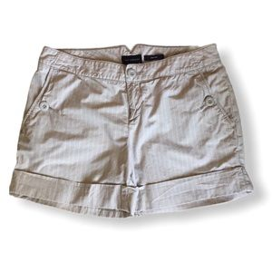 The Limited Drew Fit Striped Shorts Tan Size 8